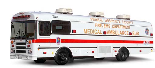 Medical Ambulance Bus